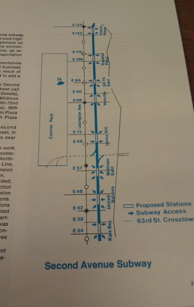 The first MTA annual report, in 1968, featured a map of the Second Avenue Subway. Image: Neil Reilly